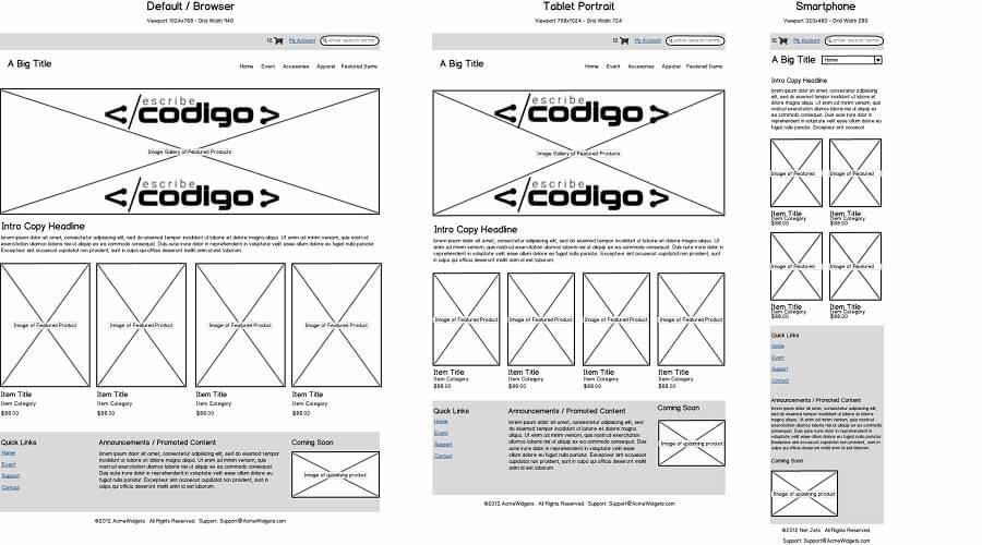 wireframe en el desarrollo de una página web